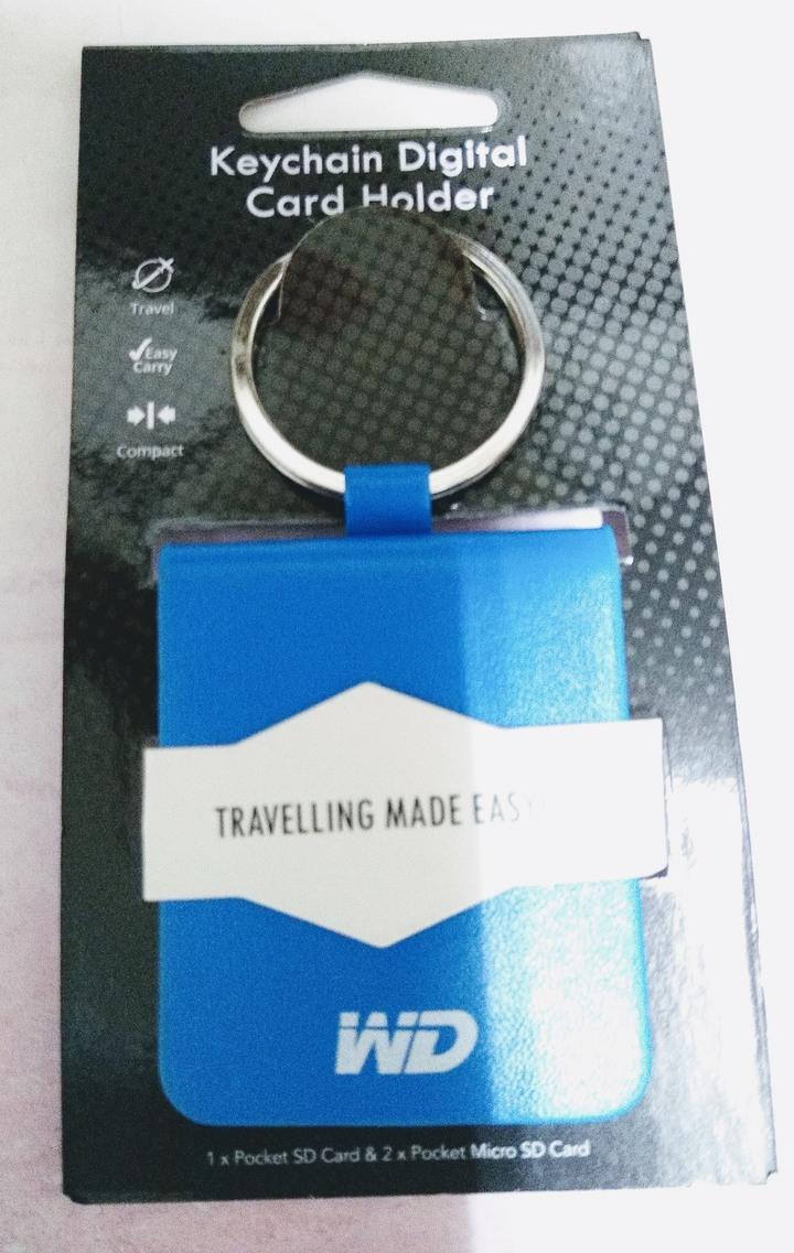 Western Digital (WD) 威騰電子 SD 卡/Micro SD 卡 收納袋 鑰匙圈