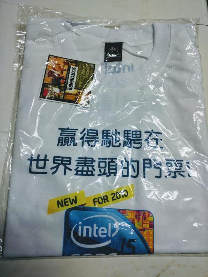 (全新) 英特爾-Intel T恤 (Size: L)