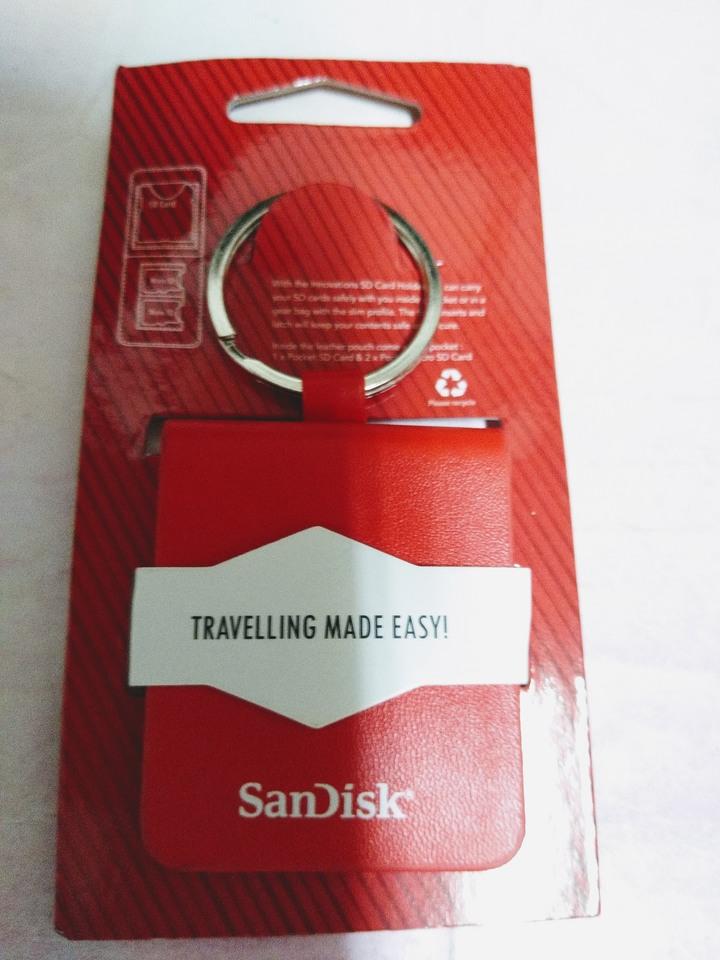 SanDisk 晟碟 (新帝) 公司 SD 卡/Micro SD 卡 收納袋 鑰匙圈