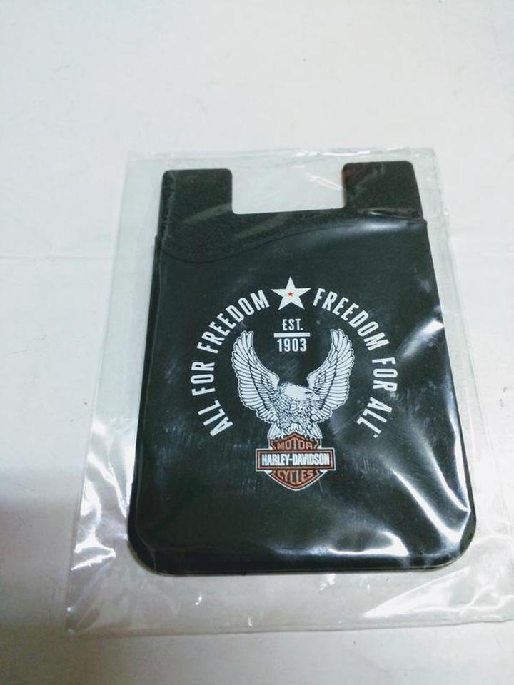 Harley-Davidson 哈雷摩托車 手機背貼矽膠插卡袋