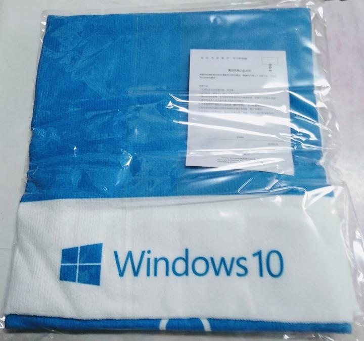 (全新) 微軟 Microsoft Windows 10 毛巾