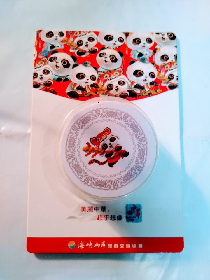 海峽兩岸旅遊交流協會熊貓造型膠帶