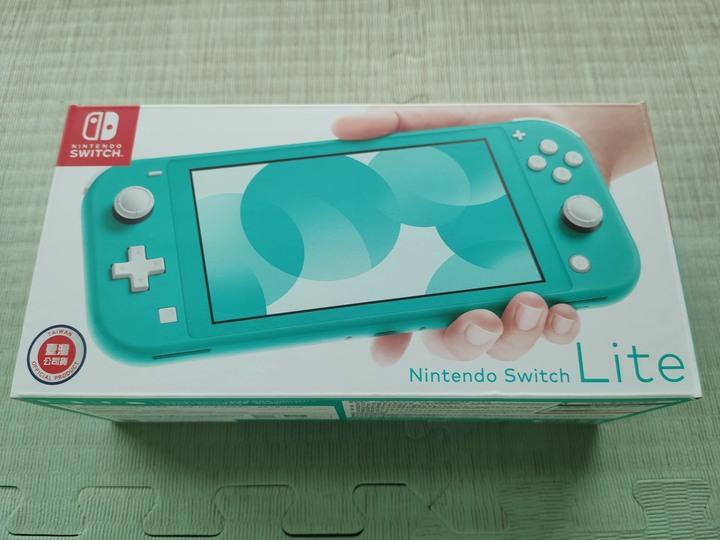 原價轉讓全新未拆封 Switch Lite 藍綠 含遊戲 動森 & 小妖精
