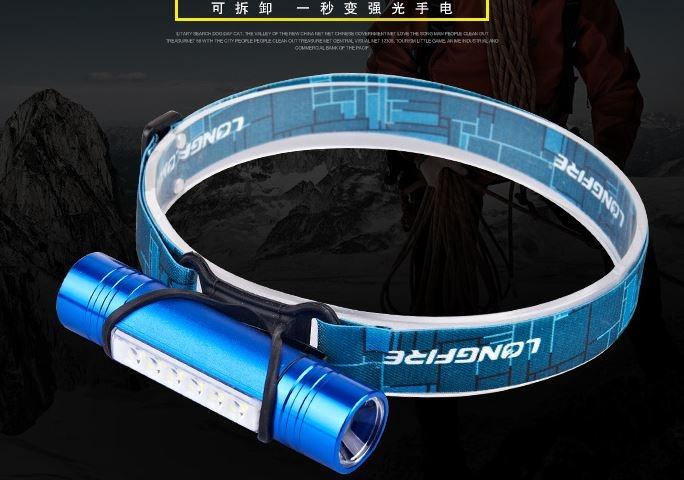 台灣晶電LED晶粒頭燈 .圖一180度超廣角頭燈800流明.角度屌打聚光T6..圖二..超廣角工程用頭燈((工程廣角.亮度.續航力.攜帶.收納都屌打變焦頭燈))頭燈效能大解說