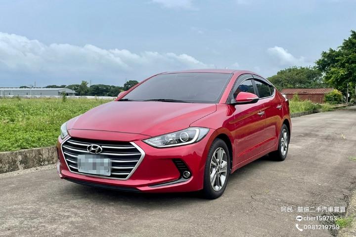 2018年 Elantra 1.6l 柴油 紅色 全原廠保養 安卓機 跑多便宜售出