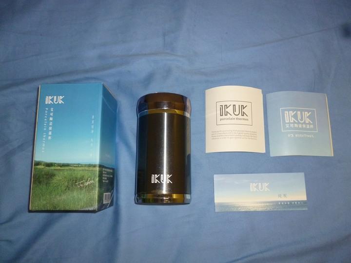艾可 IKUK 真空雙層內陶瓷超商 400ml 午夜藍色 保溫杯
