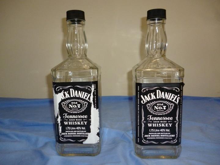 Jack Daniel's 傑克丹尼田納西威士忌 1.75公升 空酒瓶