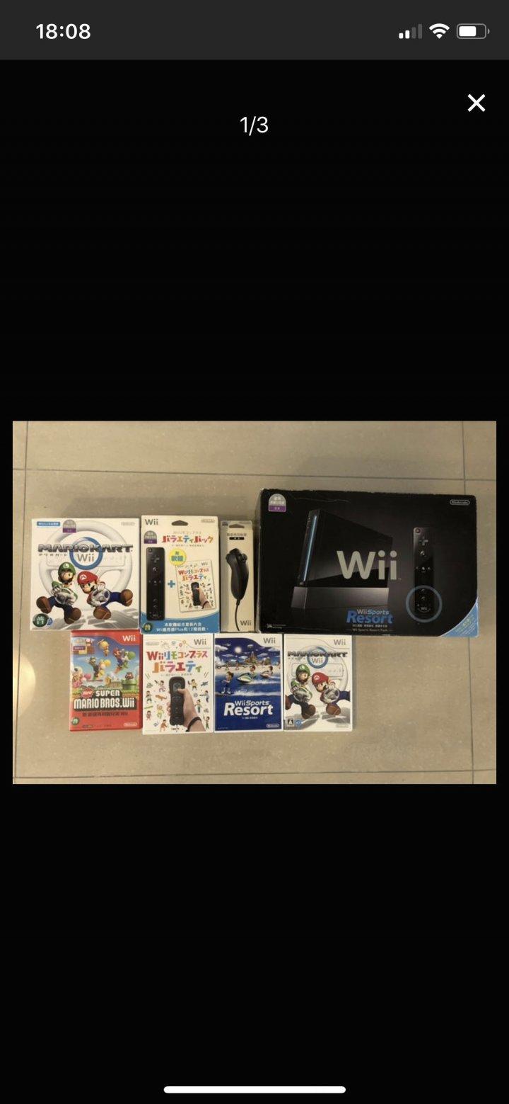 Wii台灣公司貨加上遊戲 台中可面交